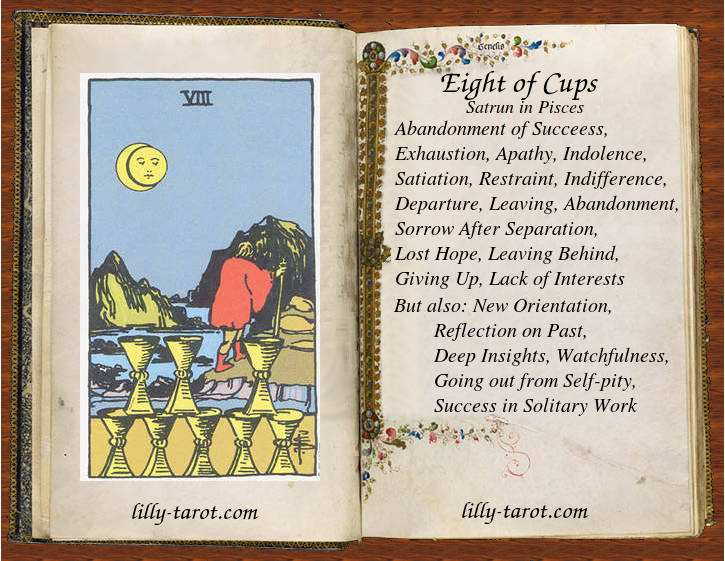 Meaning of Eight of Cups