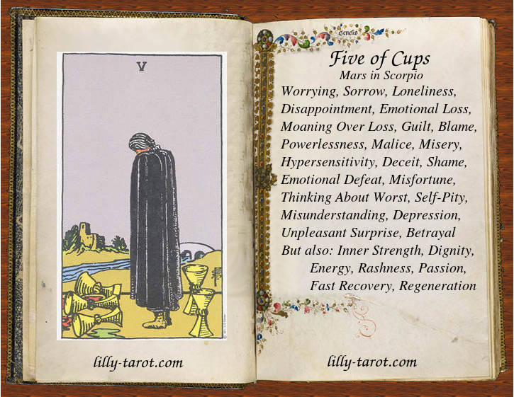 Meaning of Five of Cups