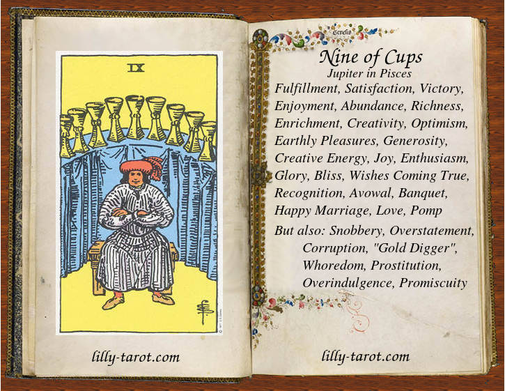 Meaning of Nine of Cups