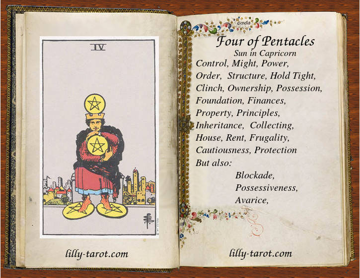 Meaning of Four of Pentacles
