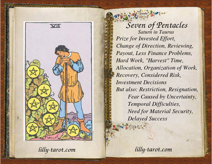 Meaning of Seven of Pentacles