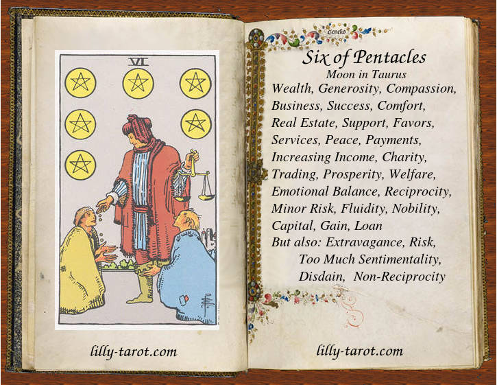 Meaning of Six of Pentacles