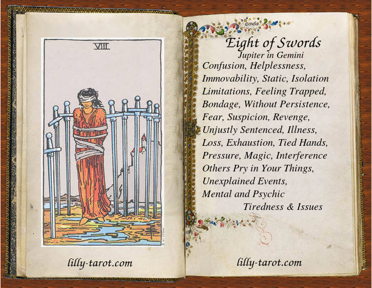Meanign of Eight of Swords
