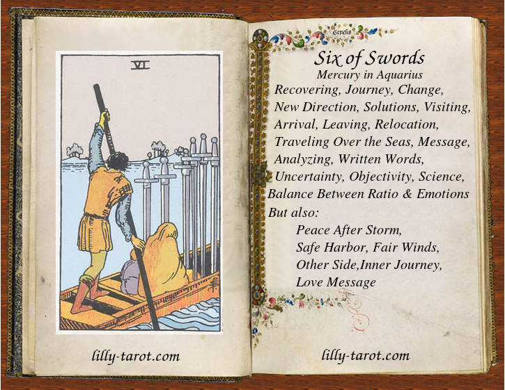 Meaning of Six of Swords