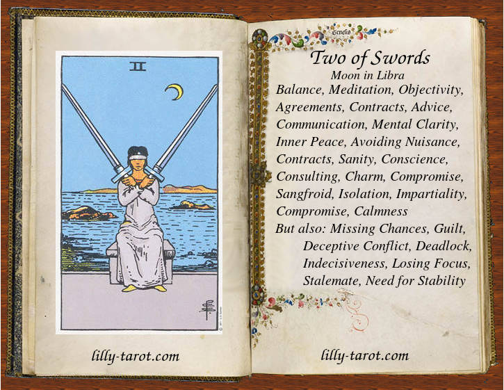 Meaning of Two of Swords