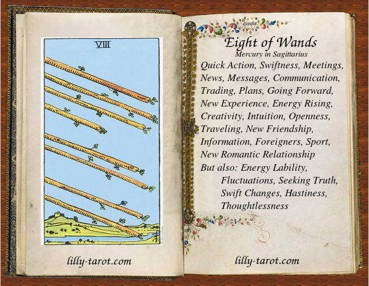 Meaning of Eight of Wands