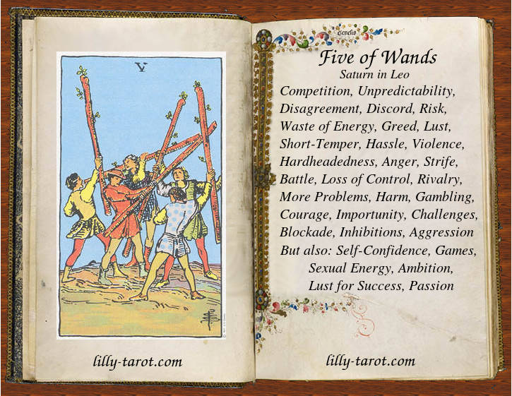Meaning of Five of Wands