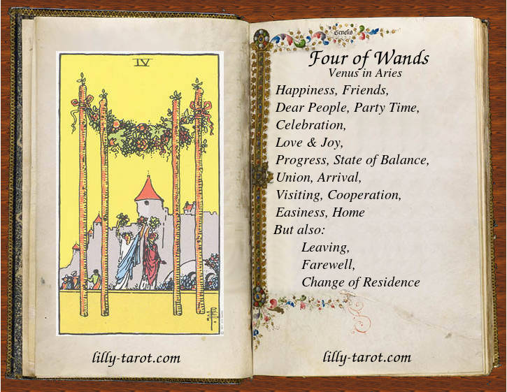 Meaning of Four of Wands